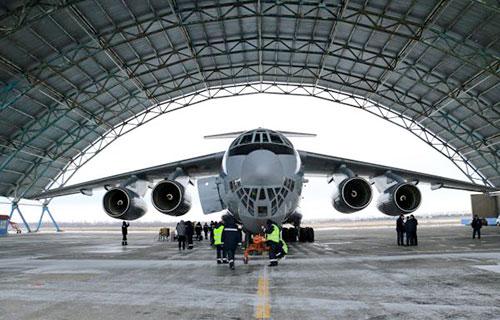 """Новый военно-транспортный самолет """"Ермак"""""""