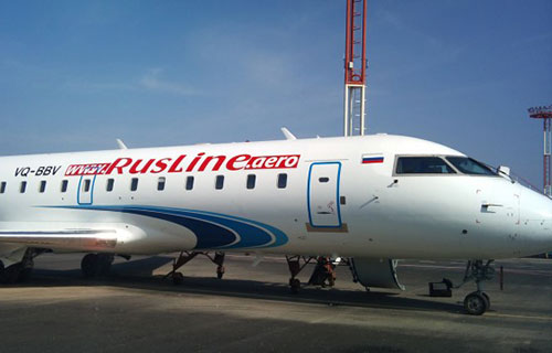 "Bombardier CRJ-200 авиакомпании ""РусЛайн"""