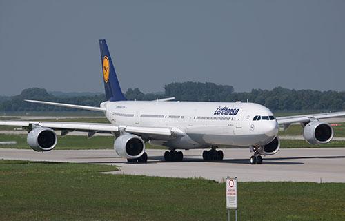 Airbus A340 немецкой авиакомпании Lufthansa
