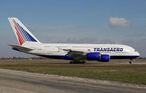 A380 авиакомпании TransAero