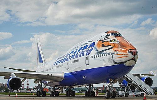 "Boeing-747 авиакомпании ""Трансаэро"""