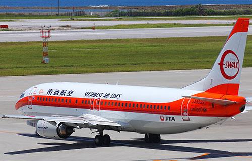 Boeing-737 японской авиакомпании Japan Transocean Air