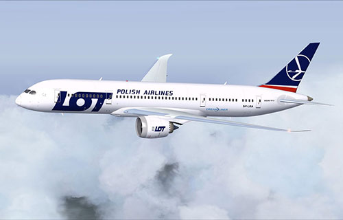 Boeing-787 польской авиакомпании LOT