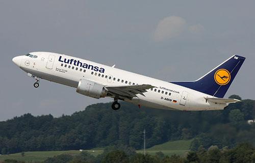 Boeing-735 авиакомпании Lufthansa
