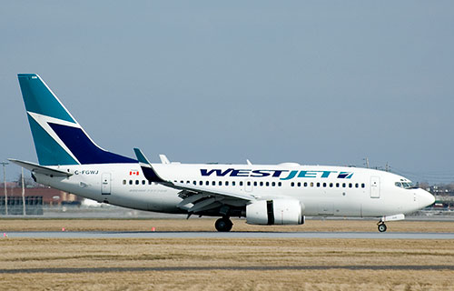 Boeing-737 авиакомпании WestJet