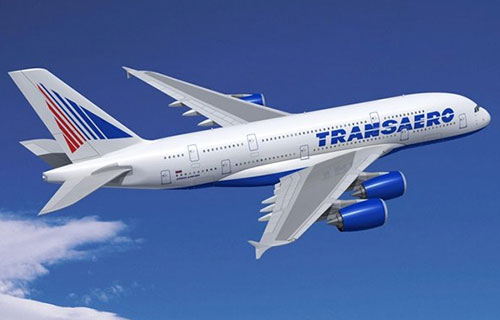 "A-380 авиакомпании ""Трансаэро"""