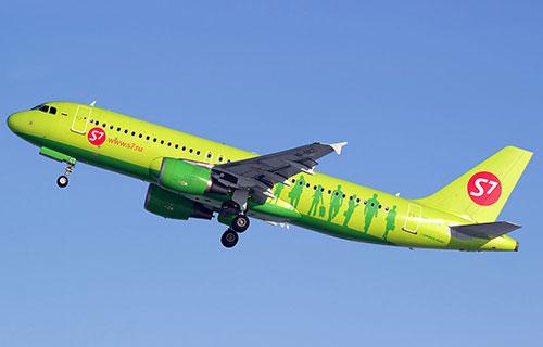 "Airbus A-320 авиакомпании S7 Airlines ""Сибирь"""