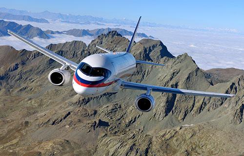 Российский самолет SuperJet-100