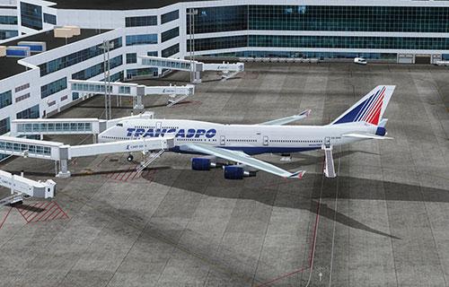 "Новый Airbus-A321 авиакомпании ""Трансаэро"""