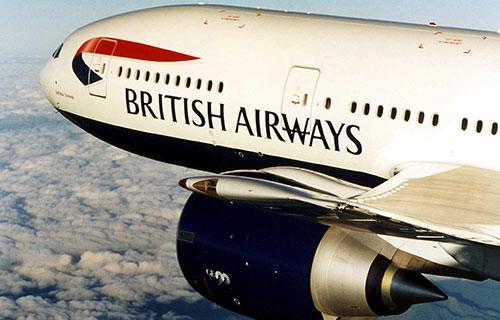 Самолет авиакомпании British-Airways