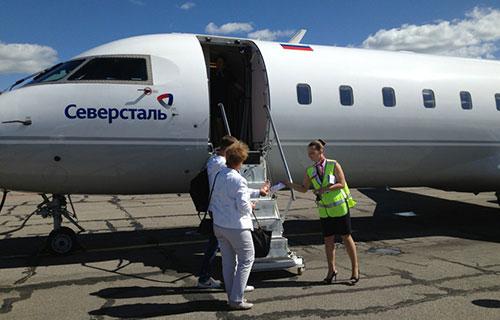"""Пассажирский CRJ-200 компании """"Авиапредприятие """"Северсталь"""""""