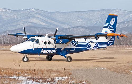 Самолет DHC-6 Twin Otter авиакомпании Аврора