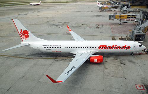 Пассажирский Boeing-737 авиакомпании Malindo Air