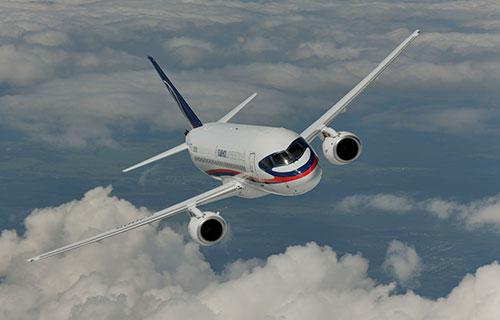 Российский пассажирский лайнер SSJ-100