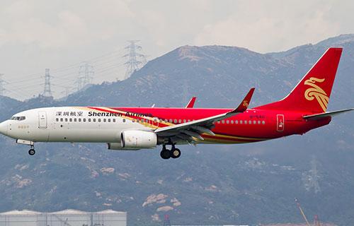 Boeing-737 китайской авиакомпании Shenzhen Airlines