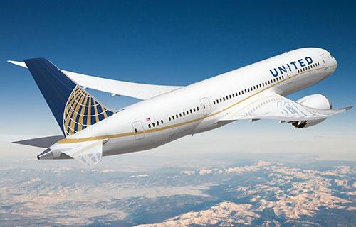 Самолет авиакомпании United Airlines