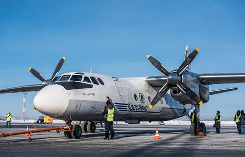 Ан-24 авиакомпании КрасАвиа