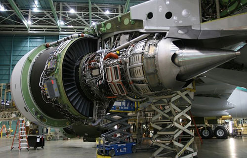 Двигатель самолета Boeing