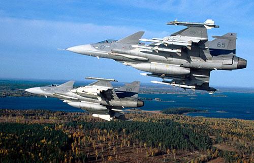 Истребители Jas 39 Gripen