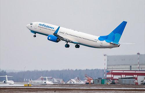 """Boeing-737 российской авиакомпании """"Победа"""""""