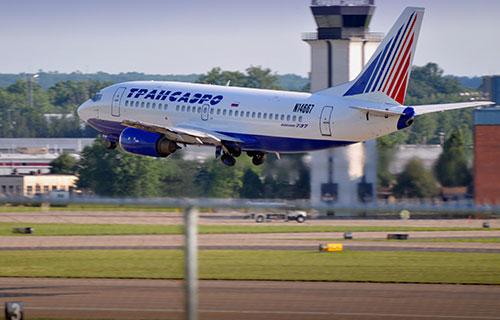 "Boeing 737-500 авиакомпании ""Трансаэро"""