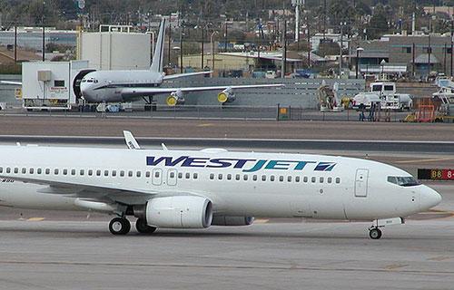 Boeing-737 американской авиакомпании WestJet