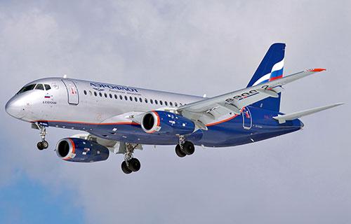 """Пассажирский Superjet-100 авиакомпании """"Аэрофлот"""""""