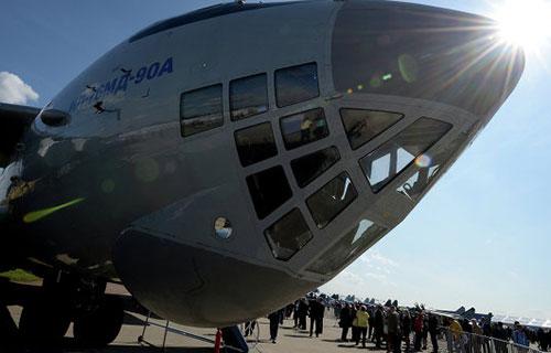 Российский военно-транспортный самолет Ил-76МД-90А