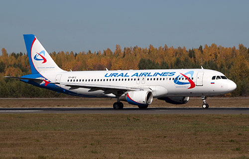 """Airbus A320 авиакомпании """"Уральские Авиалинии"""""""