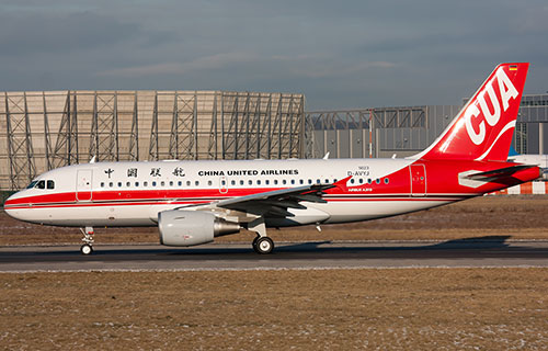 Самолет авиакомпании China United Airlines