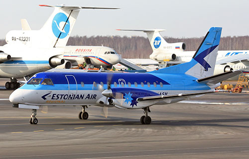 Пассажирский Saab 340 авиакомпании Estonian Air