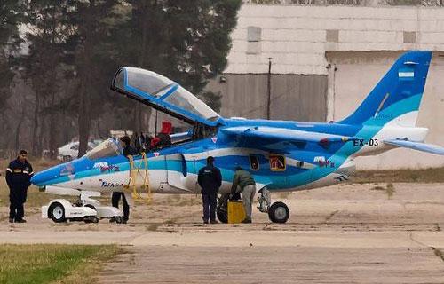 Учебно-боевой аргентинский самолет IA-63 Pampa III