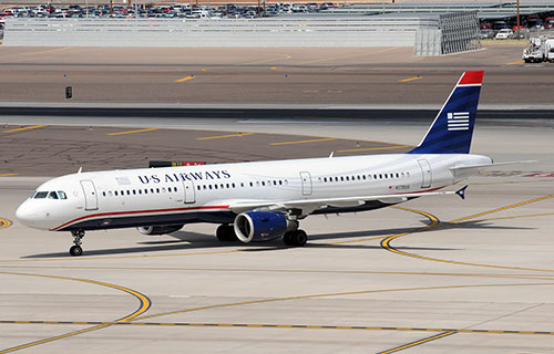 Airbus A-321 авиакомпании US Airways
