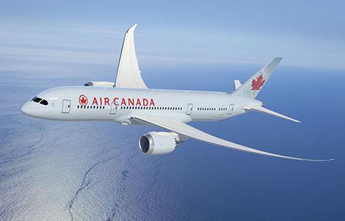 Самолет канадской авиакомпании Air Canada