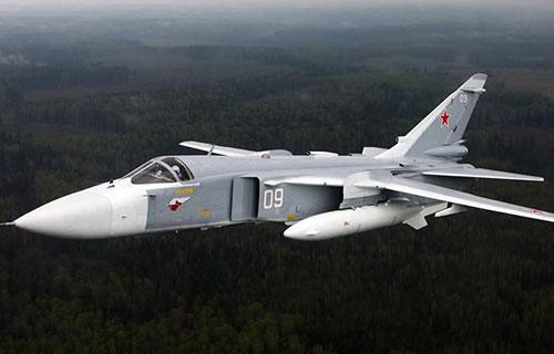 Российский бомбардирвощий Су-24
