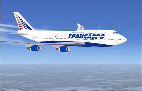 "Самолет авиакомпании ""Трансаэро"""