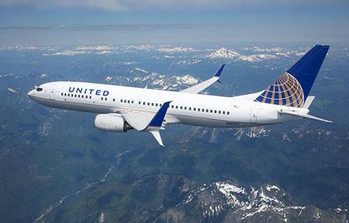 Самолет американской авиакомпании United Airlines